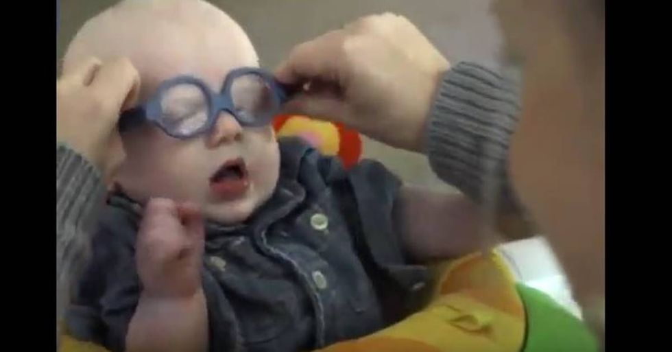 Four-Month-Old Baby Sees His Mother for the First Time