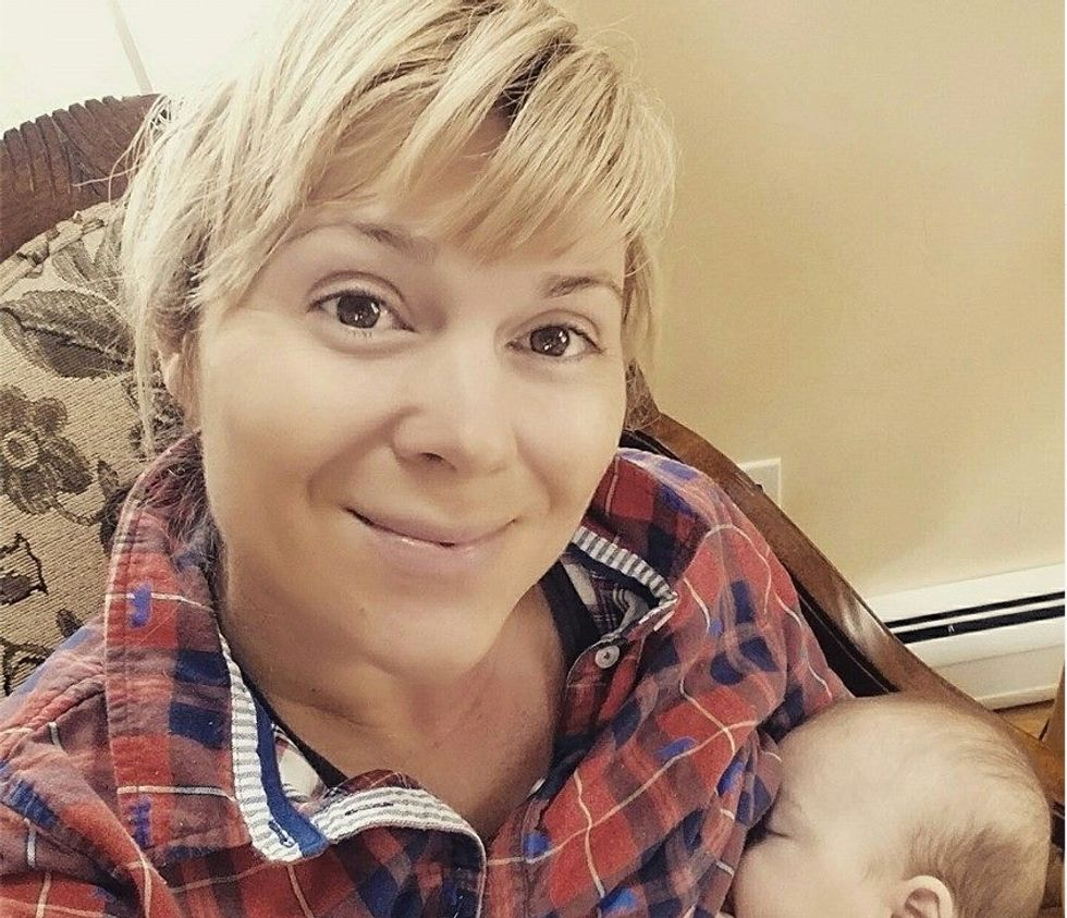 Aunt stirs up controversy after posting photo of herself breastfeeding sister's baby