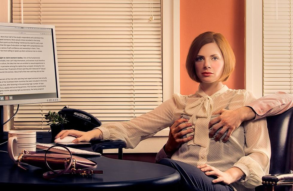 Controversial Photo Series Explores The Lack Of Boundaries Women Feel In Everyday Life