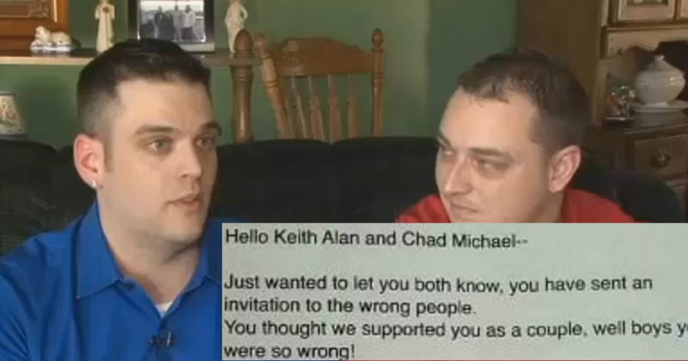 Gay Couple's Wedding Invite Gets Horrendous RSVP
