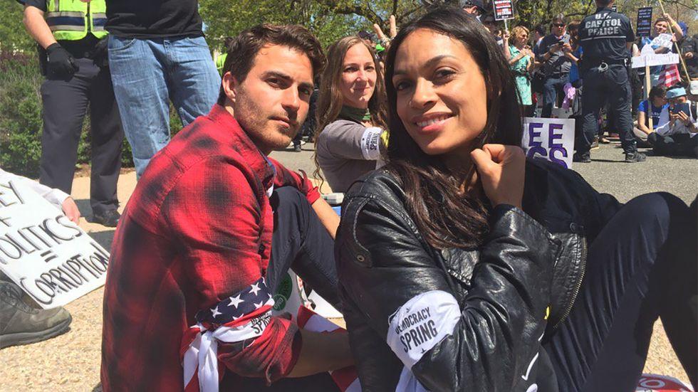 Rosario Dawson Was Handcuffed At The Democracy Spring Protest In Washington D.C.