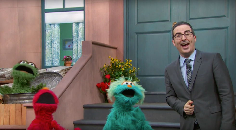 John Oliver Brings In Sesame Street Characters To Sing About Poisoned Water