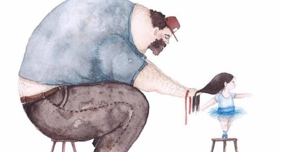 Artist Creates Beautiful Paintings About The Relationship Between A Father and Daughter