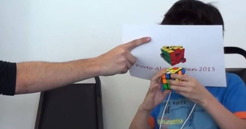 Chan Hong Lik Has Amazing Rubik's Cube Skills