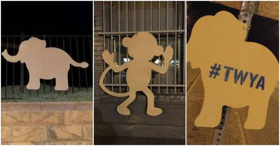 Mysterious Elephant And Monkey Cutouts Are Popping Up All Over Denver