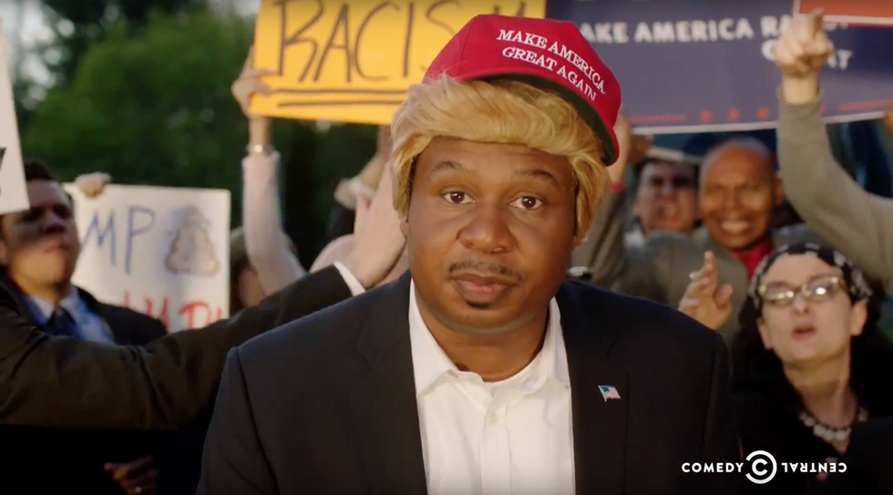 Black Donald Trump Is Back OnThe Daily Show, This Time With A Rap Song