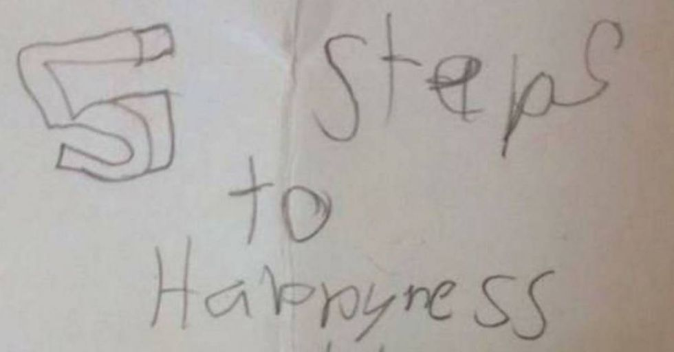 This 8 Year Old's 5 Steps To 'Happyness' Are Beautiful