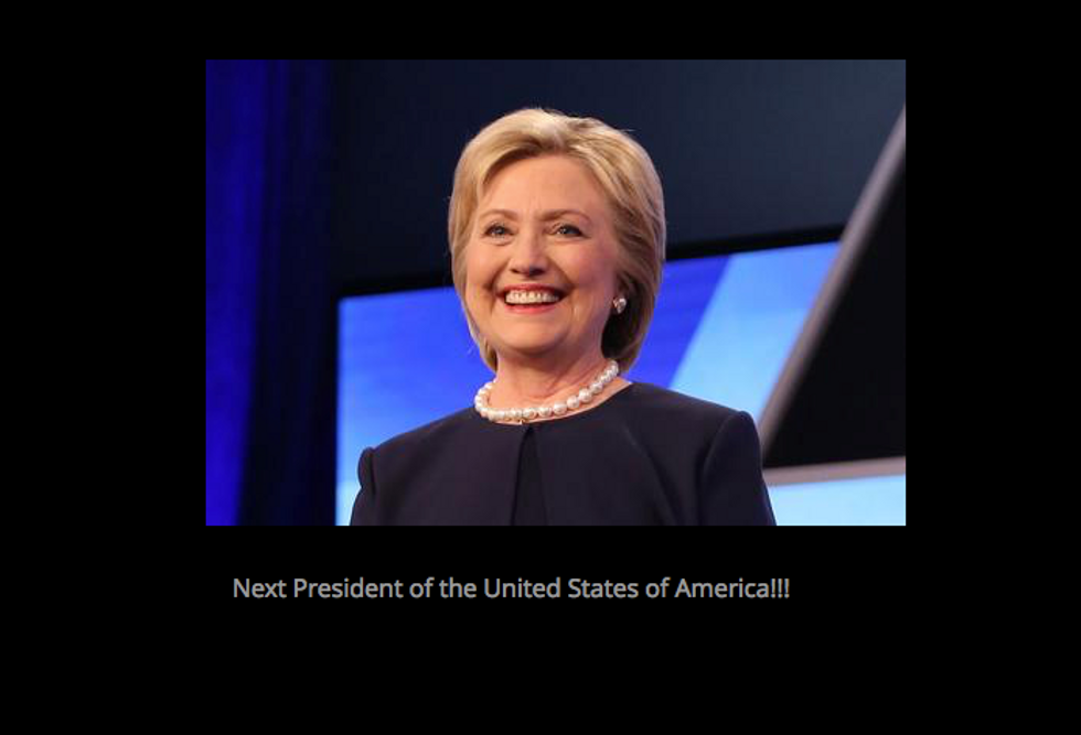 That Was Quick: Ted Cruz Site Says Hillary Clinton Will Be The Next U.S. President