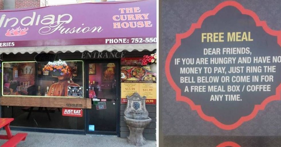 Restaurant Owner In Canada Gives Free Meals To Those In Need