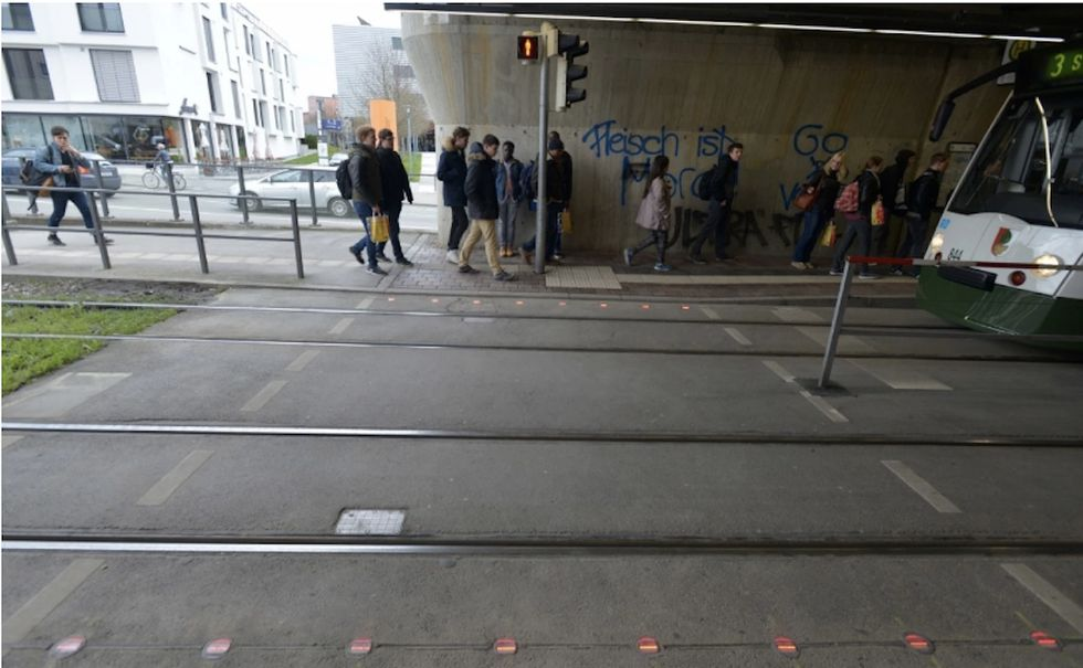 German City Gets Creative With Traffic Lights So Smartphone Users Never Have To Look Up