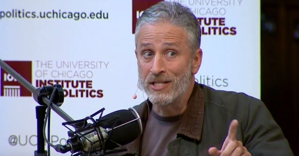 Jon Stewart Pops Up To Deliver Epic Anti-Trump Rant