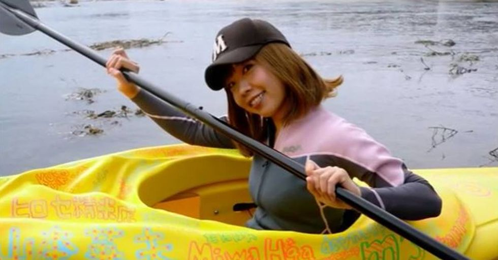 Artist Challenges Japanese Obscenity Laws With a Vagina-Shaped Kayak