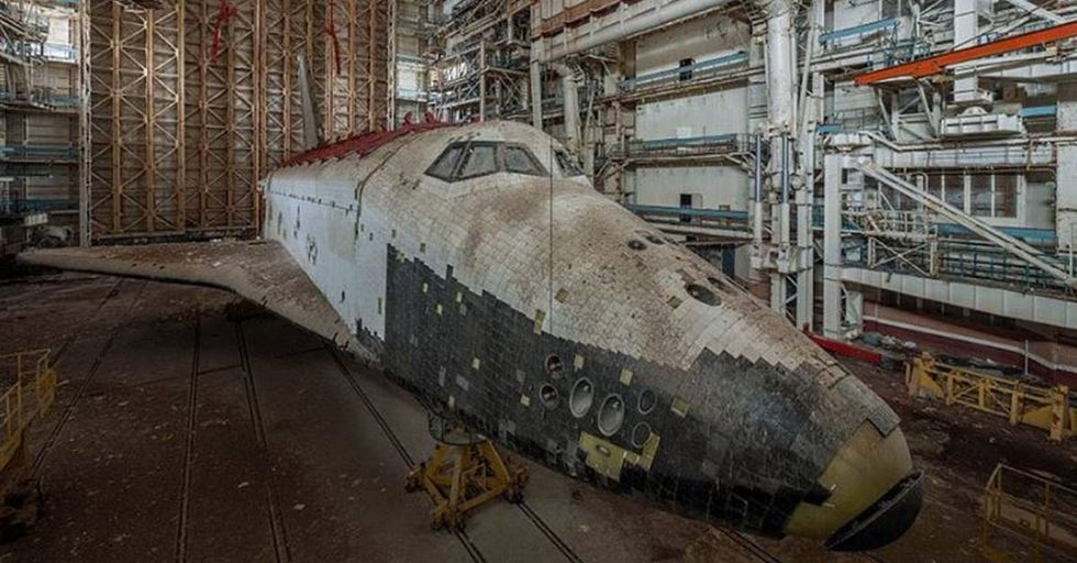 Two Soviet Space Shuttles Found In An Abandoned Hangar