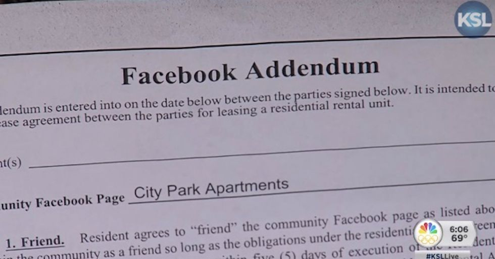Apartment Owners Force Renters To Friend Them On Facebook