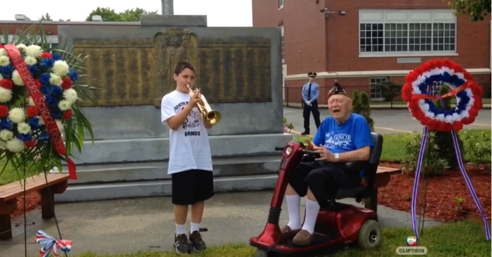 Dedicated Kid Won't Let Cancelled Parade Stop Him From Honoring WW2 Vet