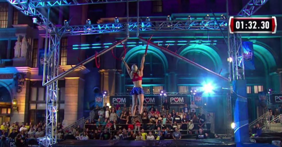 Stuntwoman Masters American Ninja Warrior Course Dressed As Wonder Woman