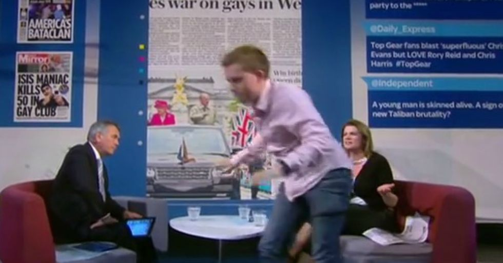 Journalist Storms Off Set On Live TV After Hosts Won't Discuss Homophobia In Orlando Shooting