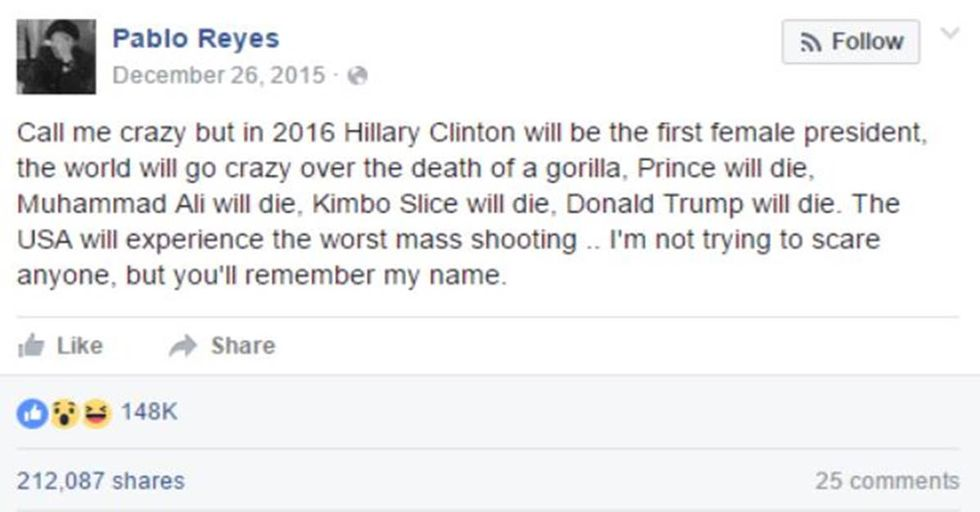 How This Facebook User Predicted the Future