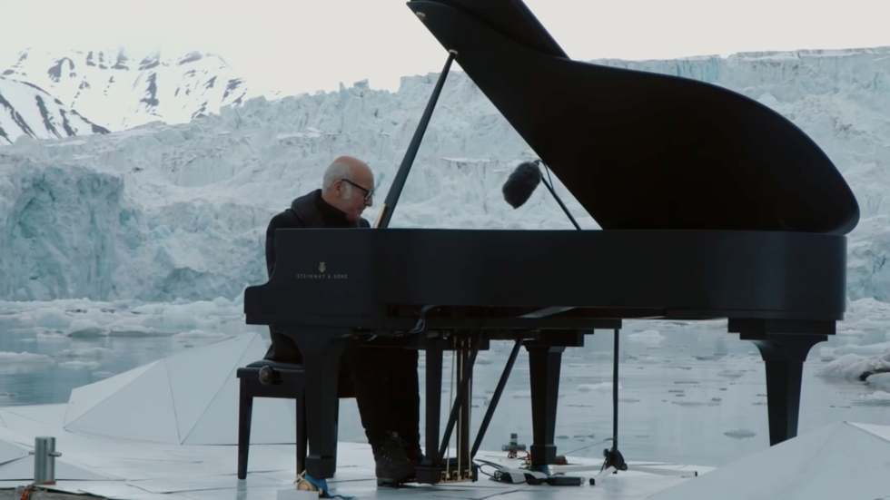 Acclaimed Pianist Performs Live As An Arctic Shelf Collapses In Front Of Him