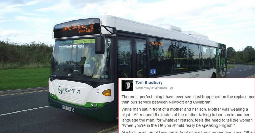 Angry Bus Rider Tells Muslim Woman To 'Speak English'