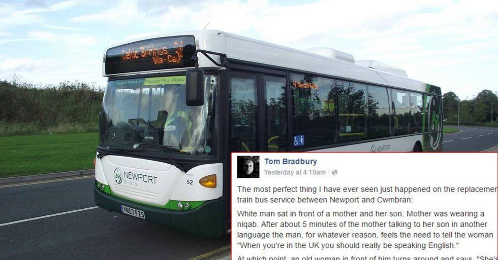 Angry Bus Rider Tells Muslim Woman To 'Speak English'