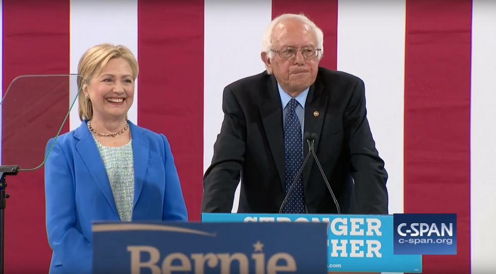 Bernie Sanders Gave His Best Impression Of A Hillary Clinton Endorsement Today