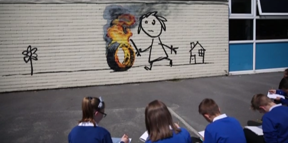 After Elementary School Named A Building After Banksy, He Gave Them An Incredible Gift