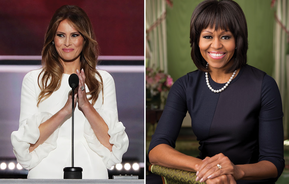 Melania Trump Accused Of Plagiarizing Michelle Obama's 2008 Convention Speech
