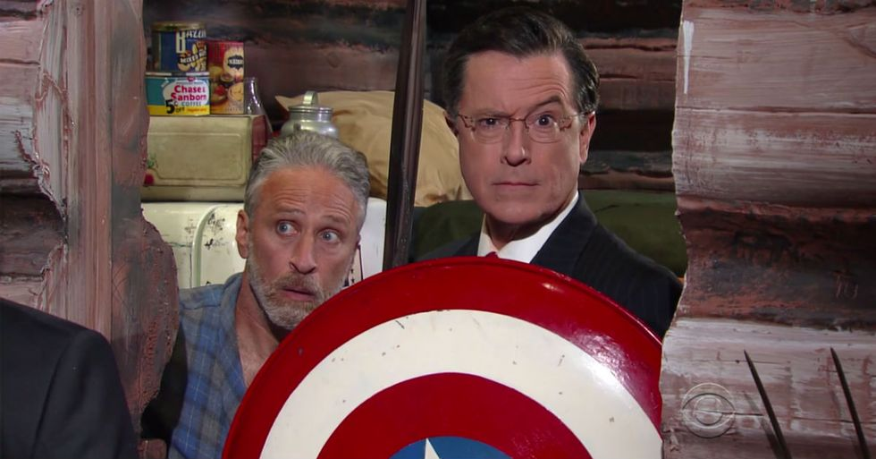 Stephen Colbert Brought His Alter Ego (And Jon Stewart) Back For The Republican Convention