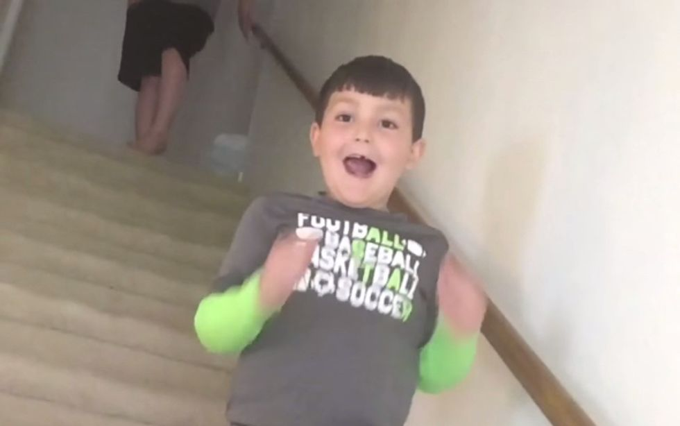 The Only Thing Better Than This 7-Year-Old Beating Cancer Is His Reaction
