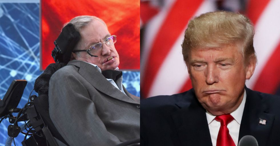 Stephen Hawking Issues One Perfect Sentence On Donald Trump And His Supporters