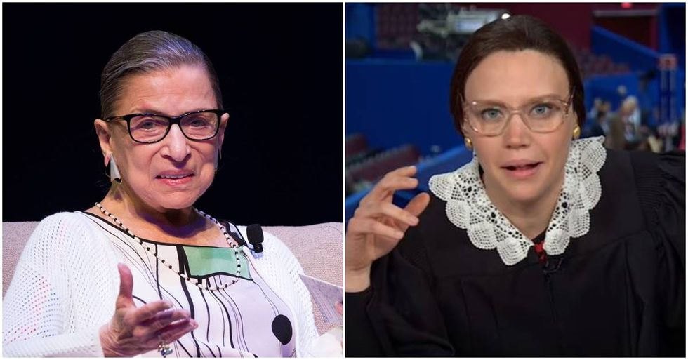 Kate McKinnon Impersonates Ruth Bader Ginsburg at the RNC Convention