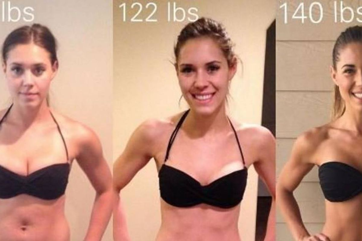 Kelsey Wells' side-by-side photos prove that weight doesn't equal health