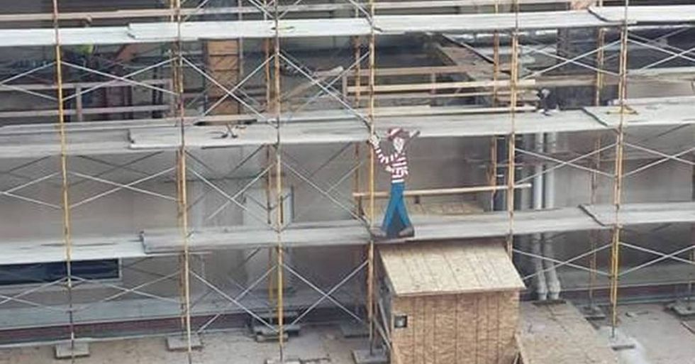 Construction Worker Helps Sick Kids By Playing 'Where's Waldo?'