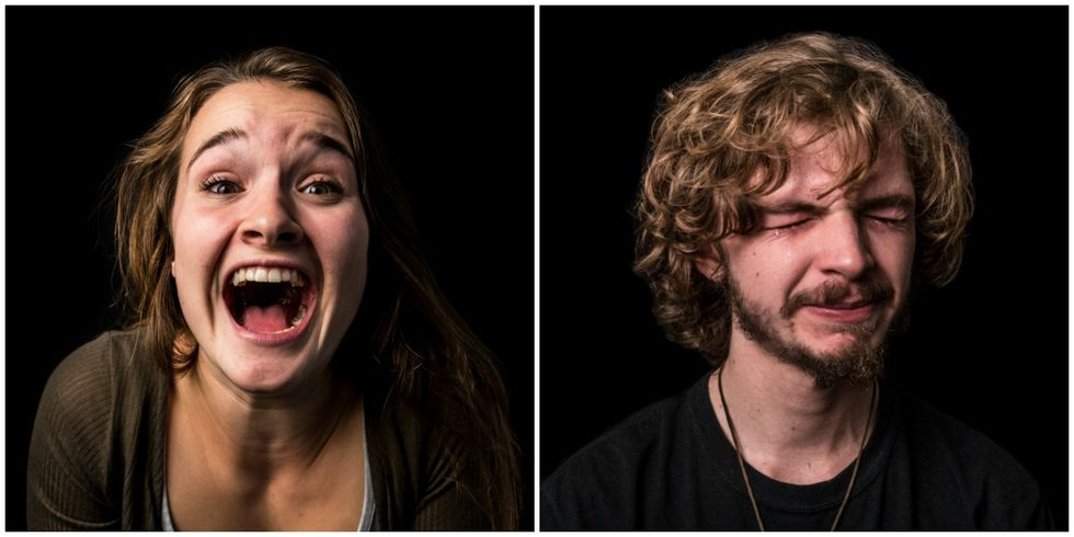 This Photographer Challenges Gender Stereotypes With Images ofMenCrying, Women Laughing