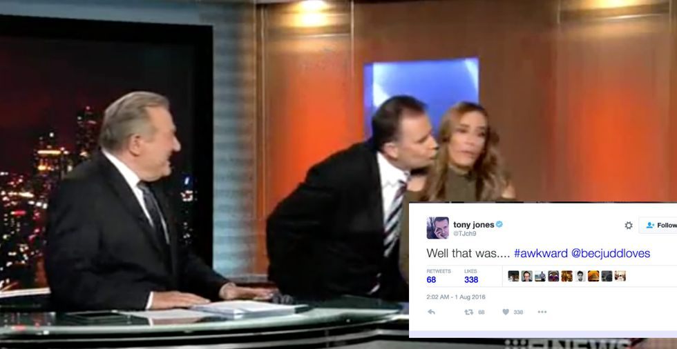 Anchor Weirdly Tries To Kiss Co-Worker On Air And Gets Shut Down