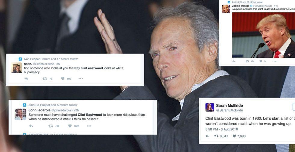 Clint Eastwood Gets Shut Down After Defending Trump's Racism