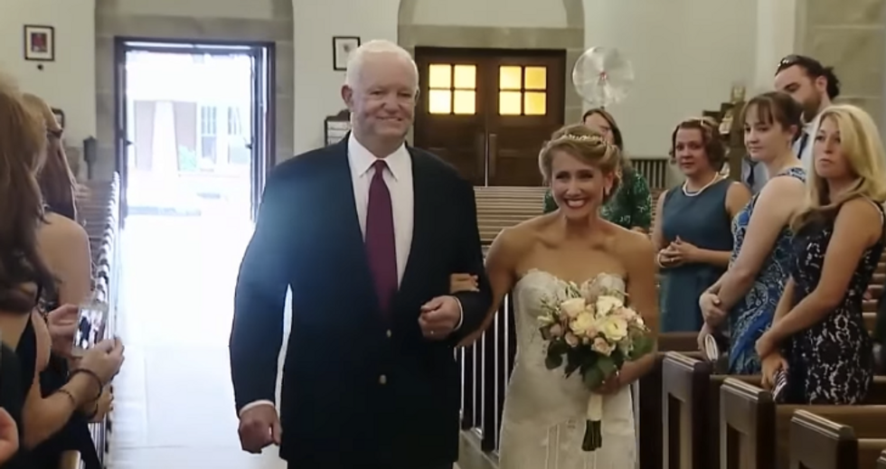 This Bride Walked Down The Aisle With The Man Who Received Her Father's Heart