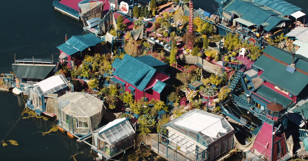 Artists Build Heavenly Homemade Island Off Vancouver Coast