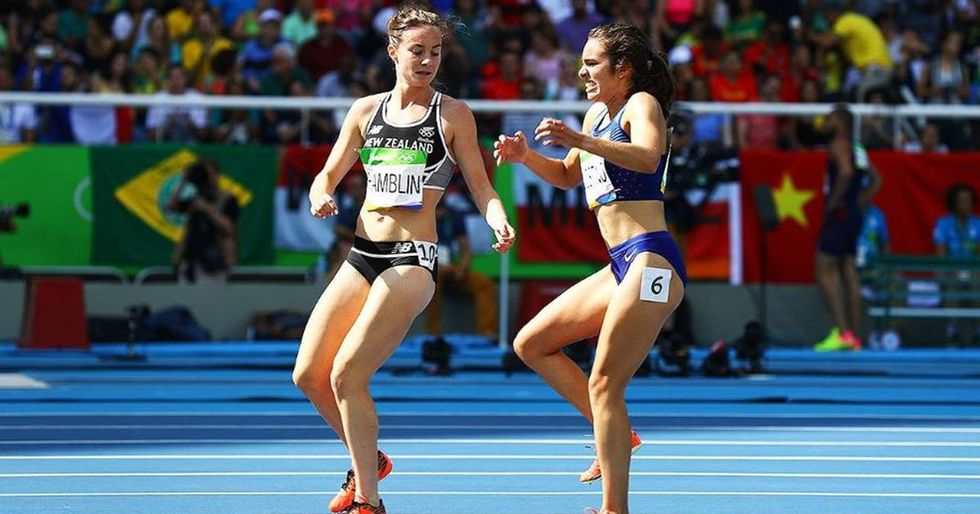 Runners Nikki Hamblin and Abbey D'Agostino Exemplify The Olympic Spirit