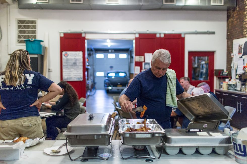 For These Firefighters, It's All About Breakfast Therapy
