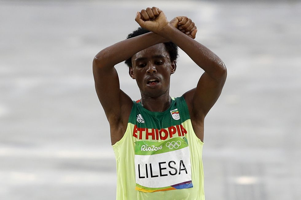 Olympic Medalist Fears For His Life After Protesting Against Ethiopian Government
