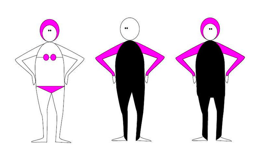 Artist Calls Out The Hypocrisy Of The Burkini Ban With One Perfect Drawing