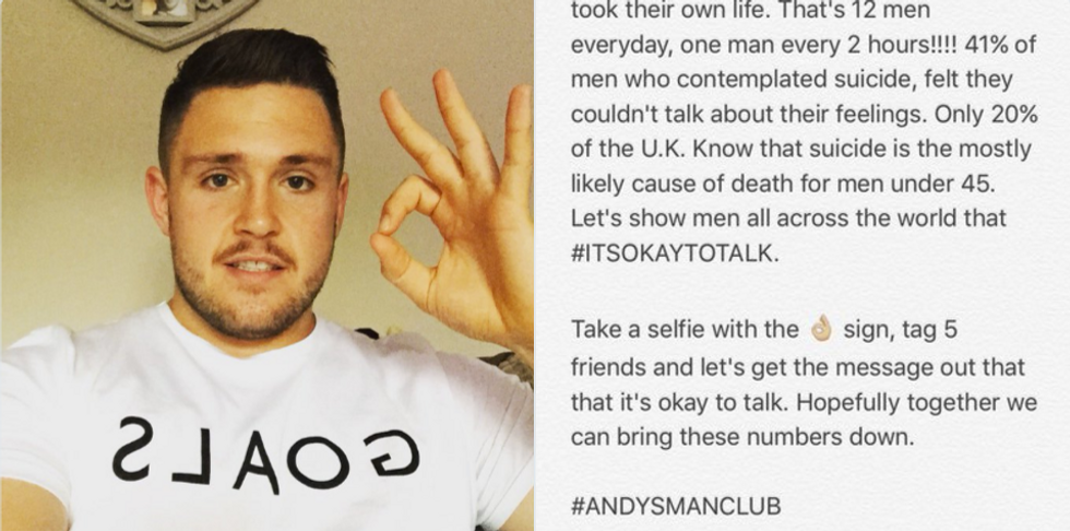 How One Rugby Player Is Using Selfies To Bring Awareness To Men's Mental Health
