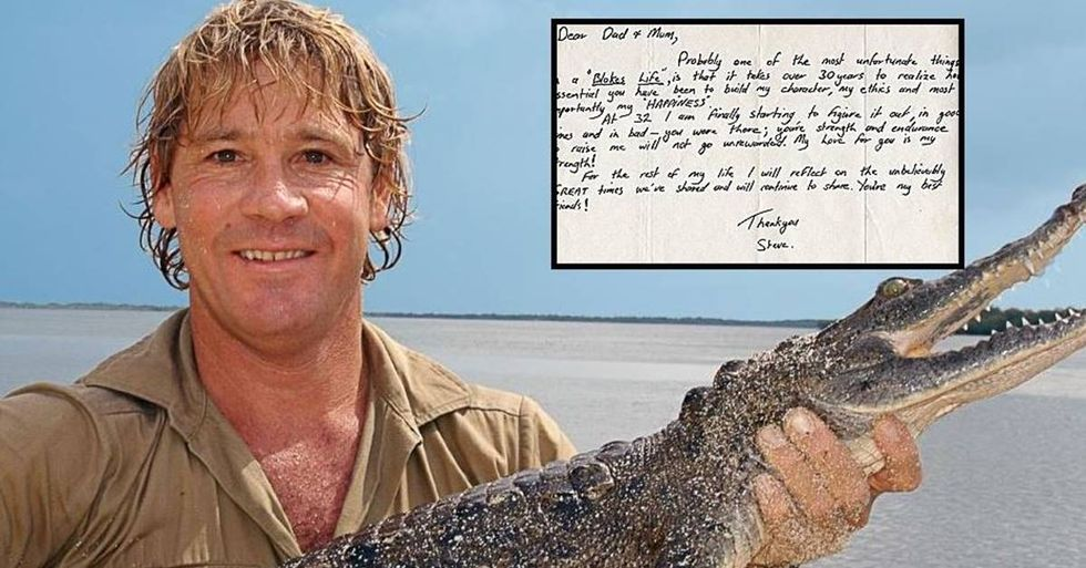 A Touching Letter From Steve Irwin To His Parents