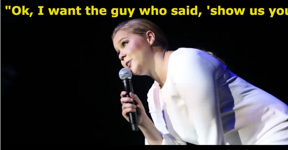 Amy Schumer Hilariously Owns Sexist Heckler Who Didn't Know When To Quit