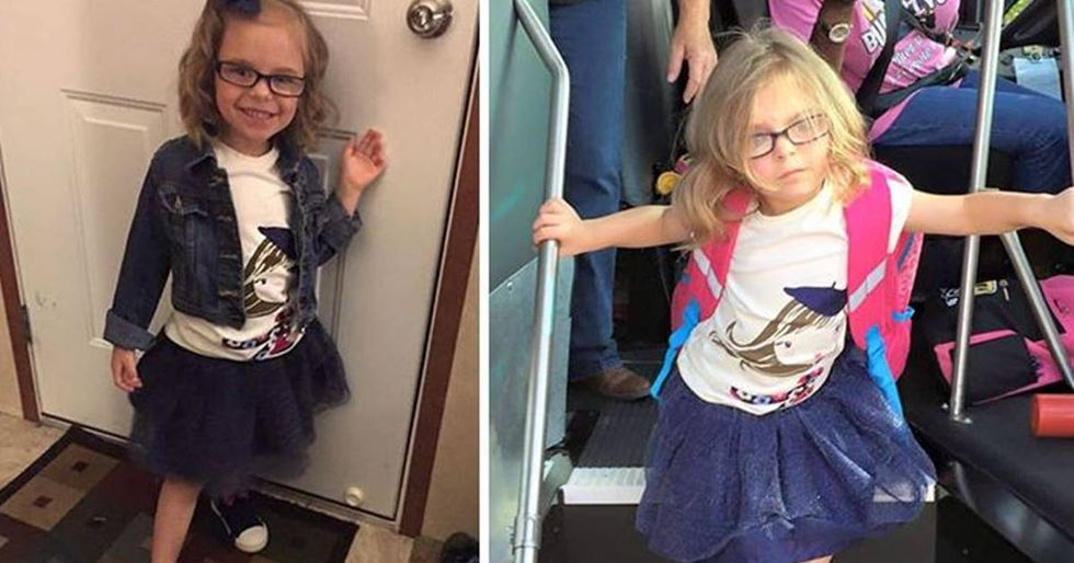 Parents Share Before-And-After Shots Of Their Kids On The First Day Of School