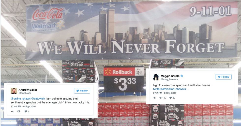 Walmart Managed To Offend Everyone With This 9/11 Soda Display