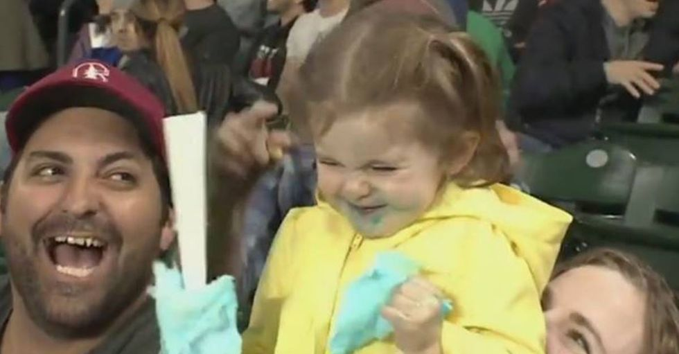 Little Girl Goes Crazy After For Her First Taste Of Cotton Candy