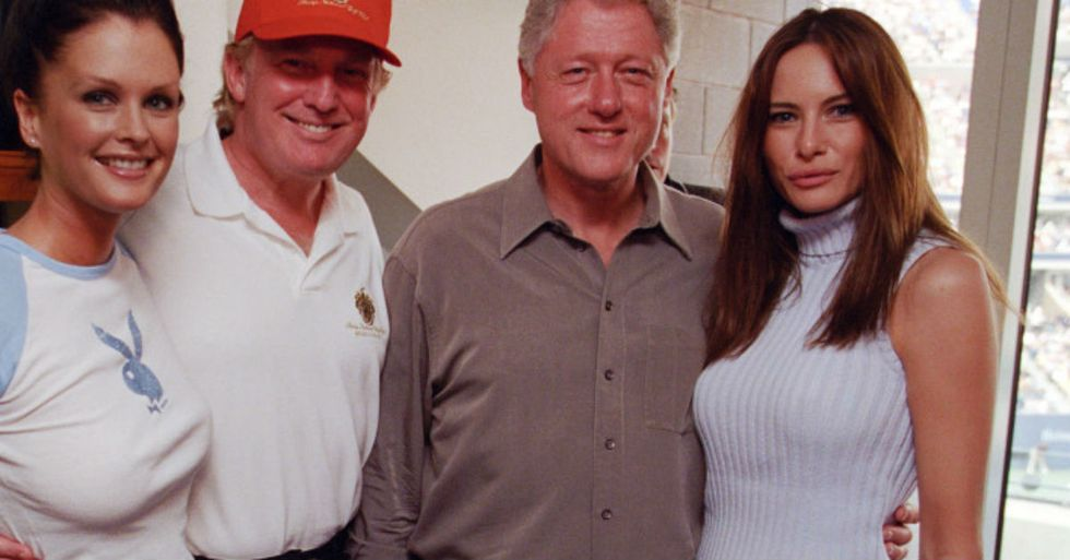 Eight Photos Show Bill Clinton And Donald Trump Looking Like Best Buds